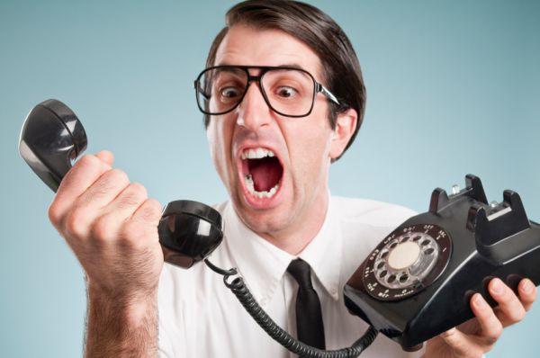 Angry caller!