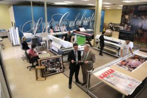 Wide Format Print Area in Life Celebration Digital  Print Center