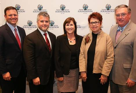 Newly elected Foundation Trustees (l-r), Jim Breaux, Justin Baxley, Kim Medici Shelquist, Joan Billman and Bob Biggins.