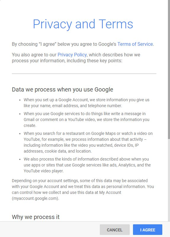 Google Privacy and Terms