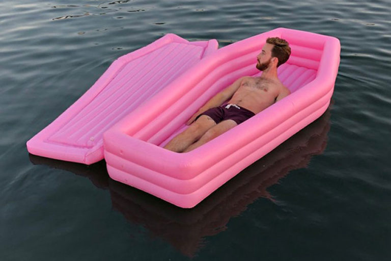 inflatable coffin