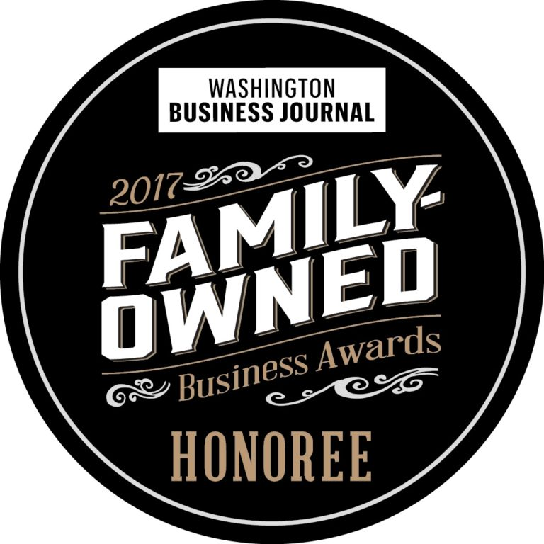 Washington Business Journal Family Owned Award Logo