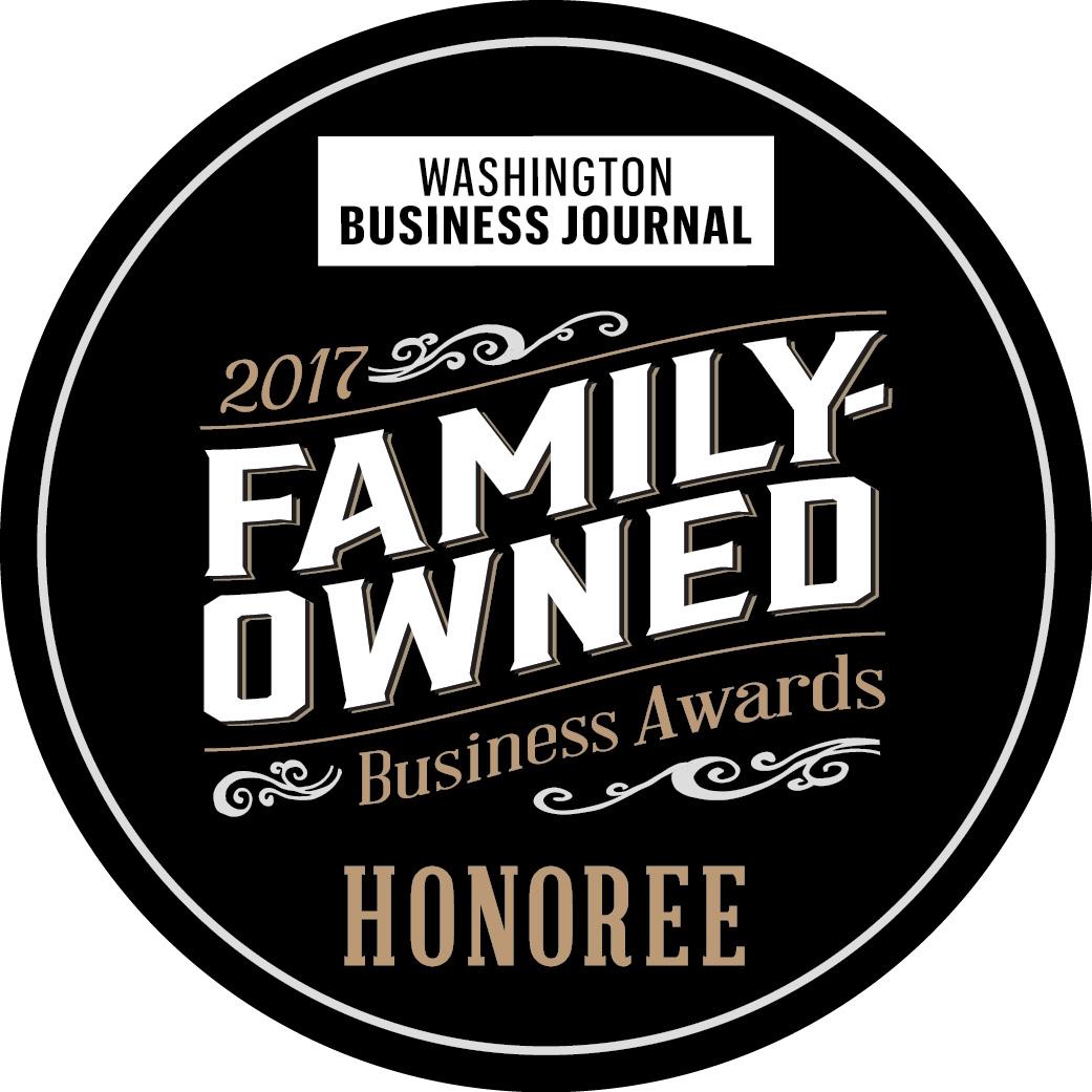 Washington Business Journal Family Owned Award Logo