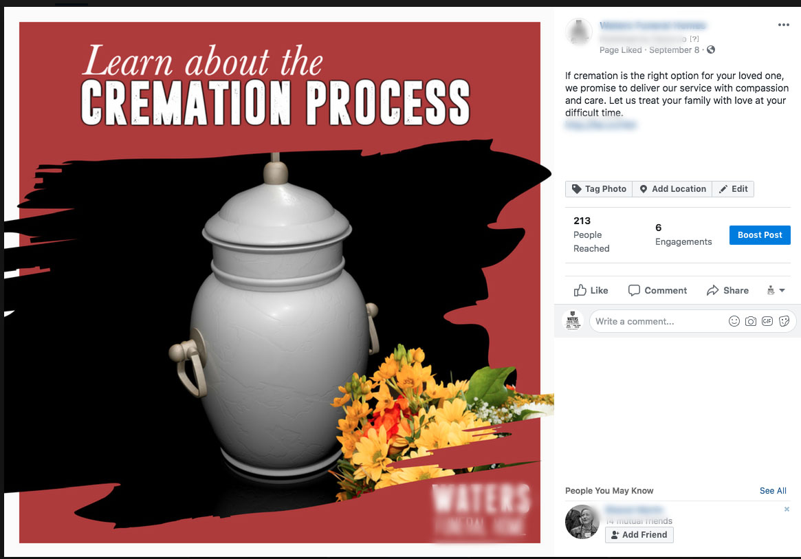 Learn About Cremation Post Example