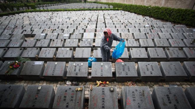 China's crowded graveyards