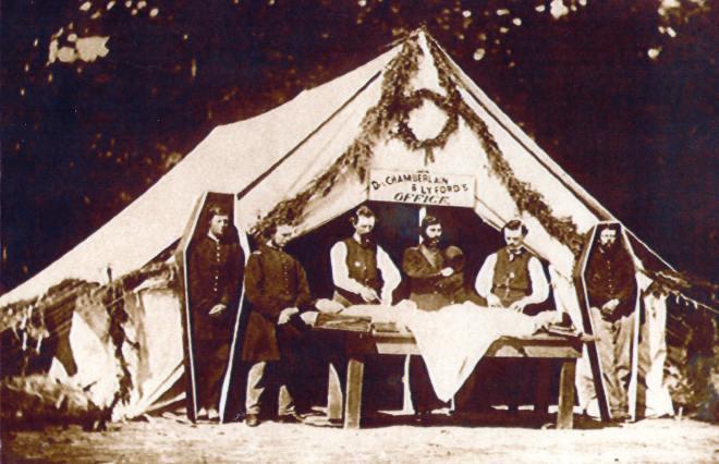 Civil War Embalming Tent
