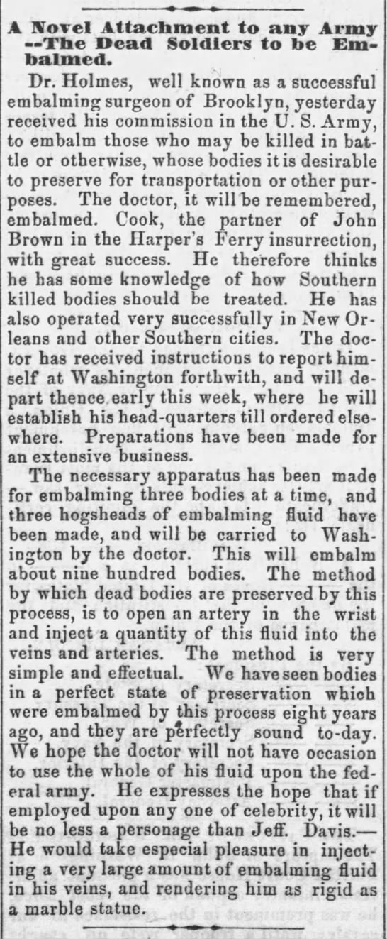 Lincoln Appearance in Elwood Kansas Free Press 15 Jun 1861