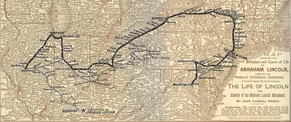 Lincoln Funeral Train Route