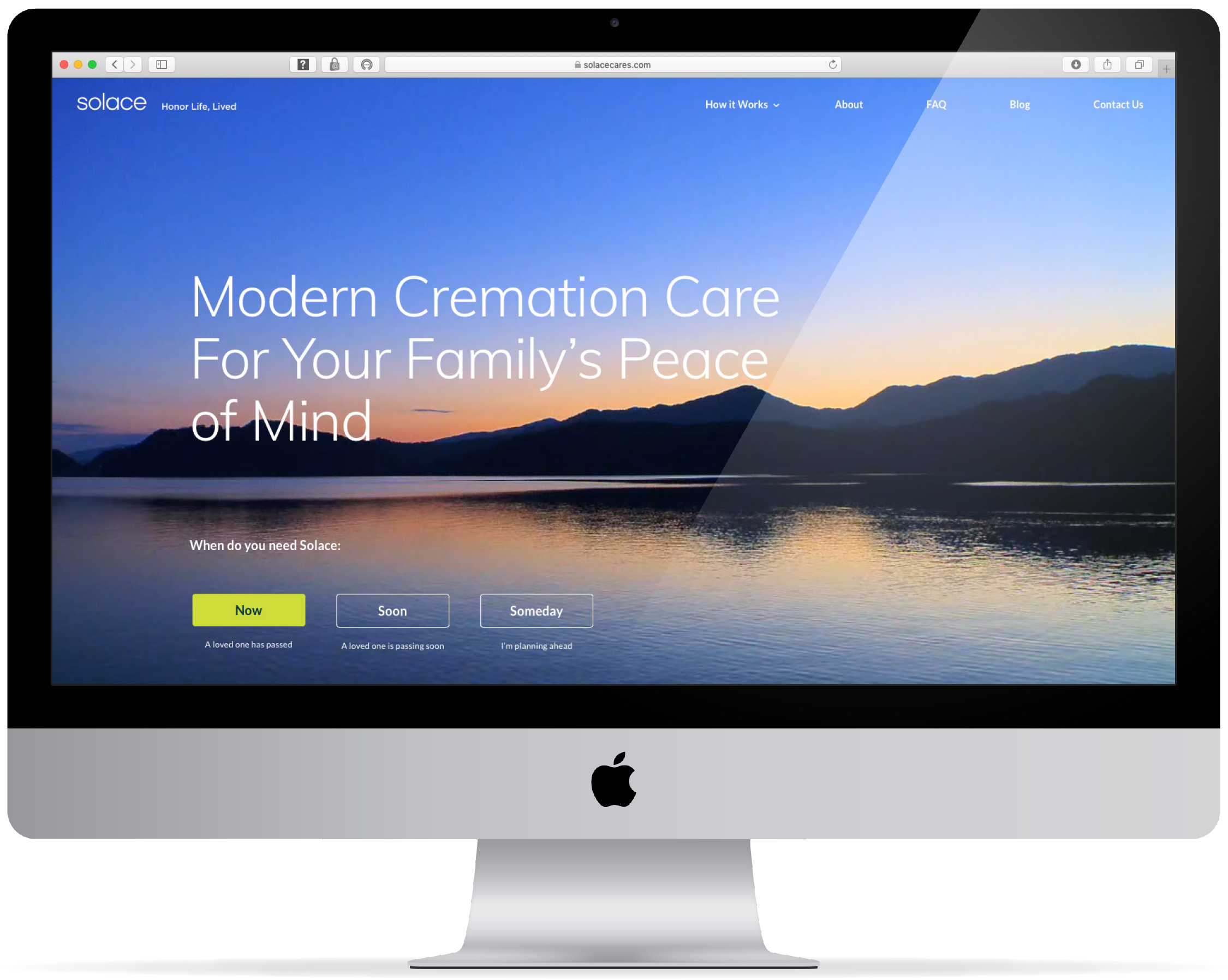 Solace cremation homepage