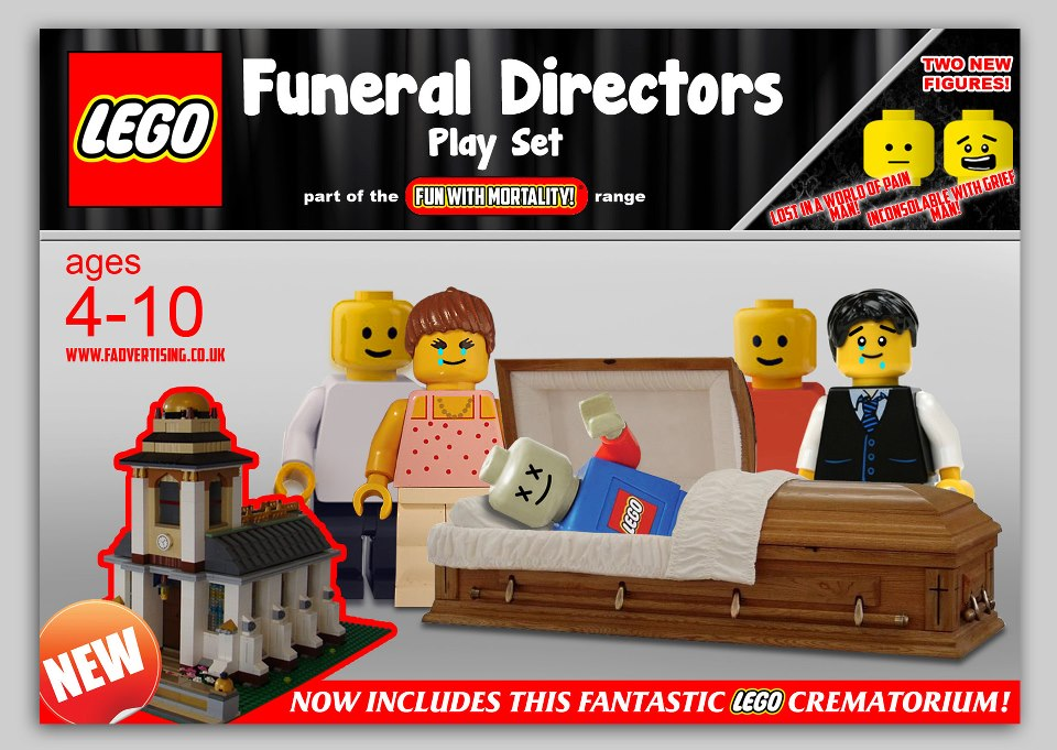 LEGO Fake Funeral Director Set
