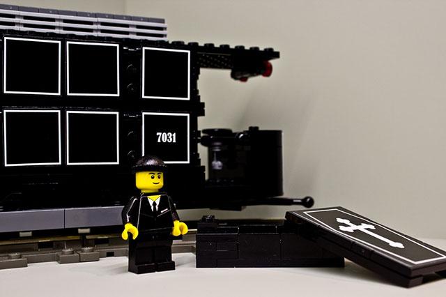 LEGO Funeral Train