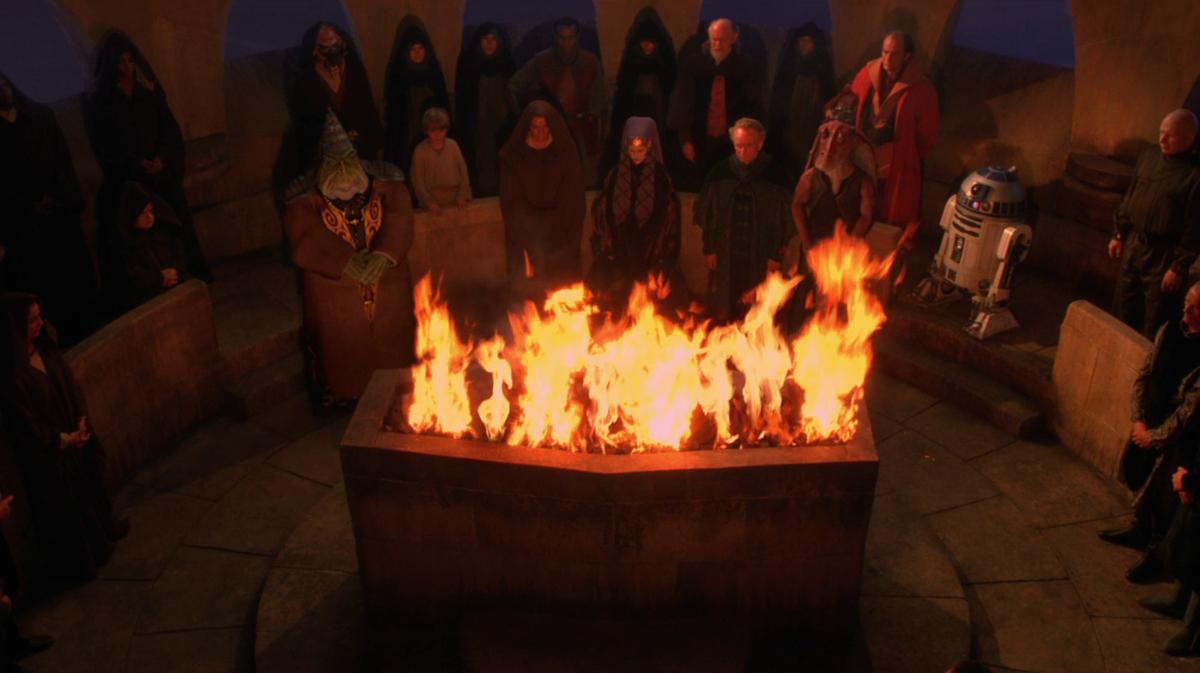 Star Wars open air cremation