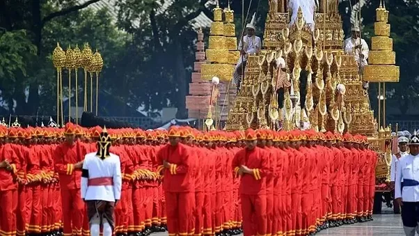 $90 million funeral procession in Thailand