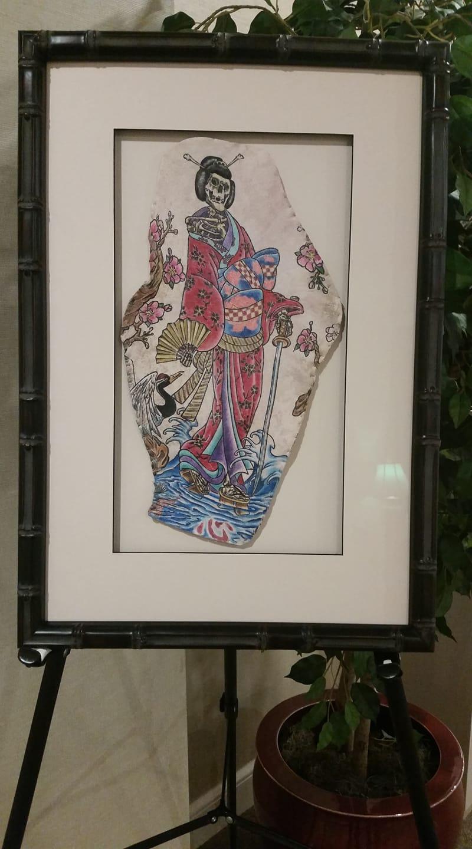 Preserved Tattoo Asian Geish