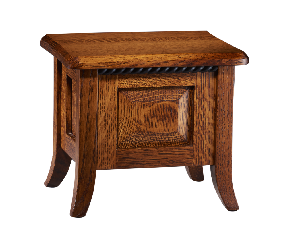 The Barrington is one of the eight urns that comprised The Amish Series, which is a collection of urns handcrafted in the heart of Amish country by woodworkers using the knowledge passed down to create unique, one of kind memorials.