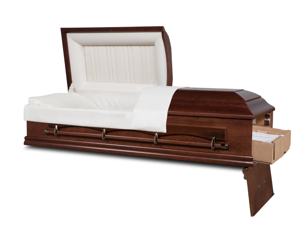 "ACCORD 27"" Solid Wood Ceremonial Rental Casket"