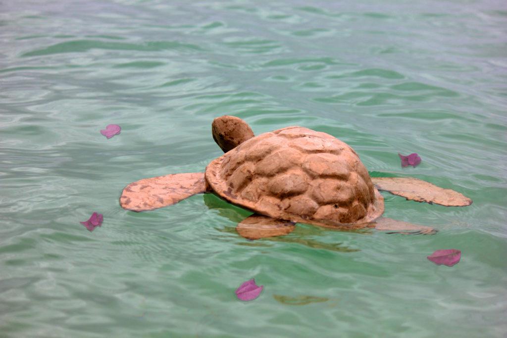 Green Funeral Turtle Urn