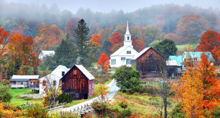 Quaint town in Vermont