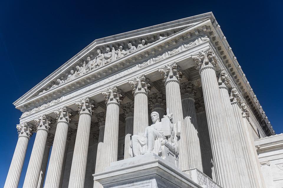 Transgender case in Supreme Court building