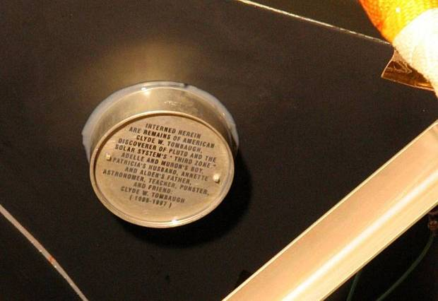 Clyde Tombaugh ashes on board spacecraft