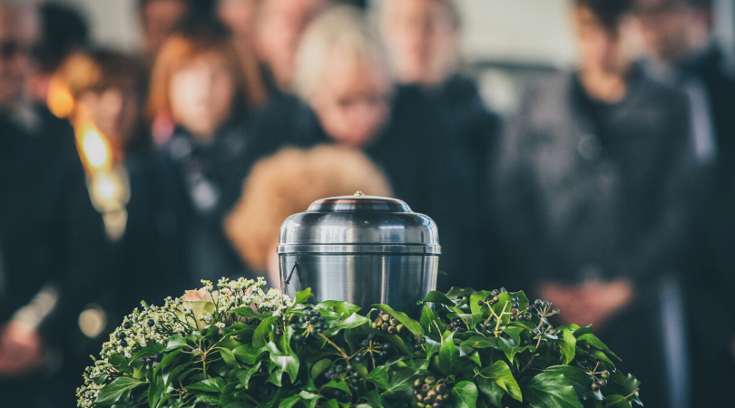 CANA Cremation Insights Urn at Service