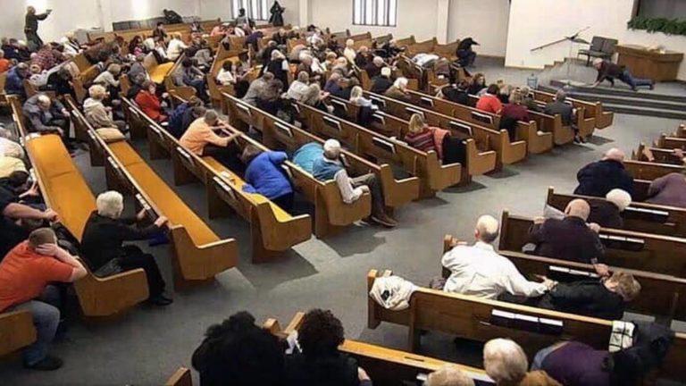Church shooting video image