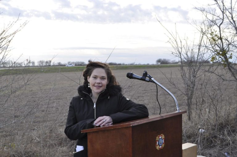 Sabrina Young Groundbreaking for Bereavement Center