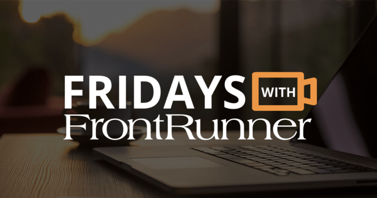 Fridays with FrontRunner