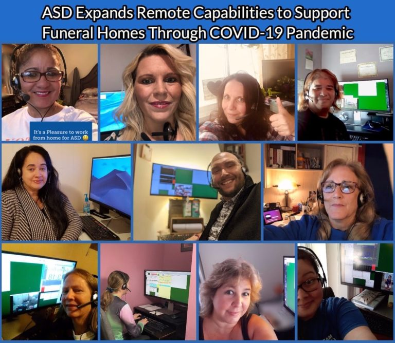 ASD – Answering Service for Directors Expands Remote Capabilities to Support Funeral Homes Through COVID-19 Pandemic