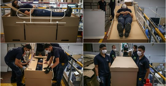 Colombia Firm's Bed-Coffin