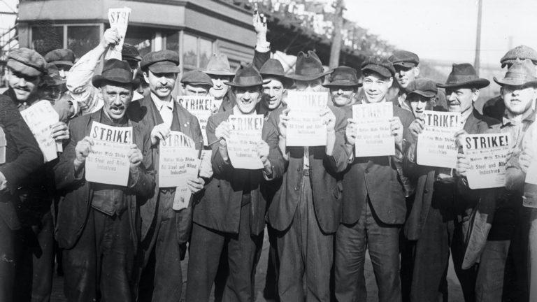 Steel strikers in 1919