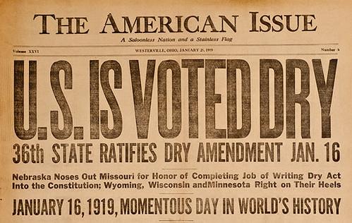 US Voted Dry 1919