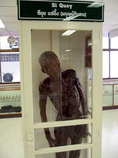 Si Quey body on display in the museum