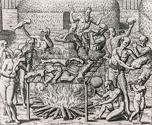 Cannibalism in Brazil 1557