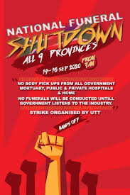 South Africa Strike Poster