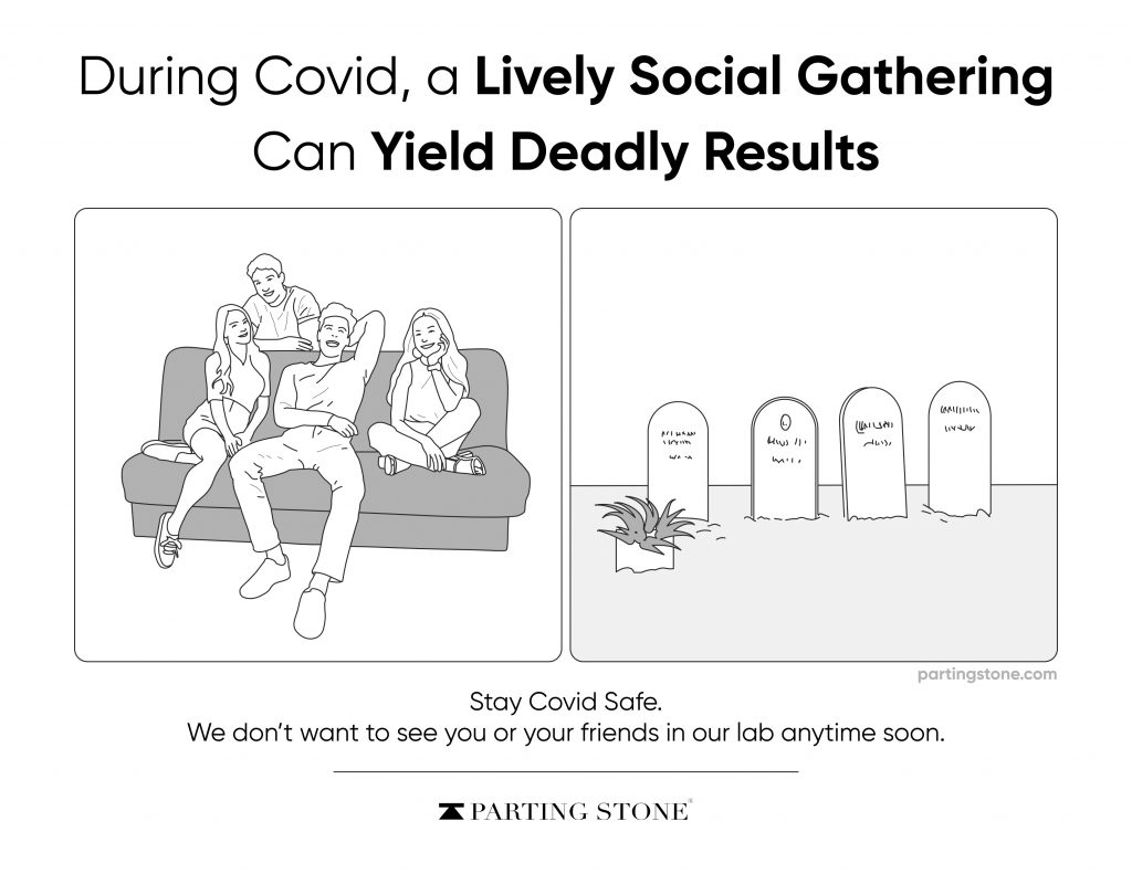 Funny COVID-19 Posters - Parting Stone