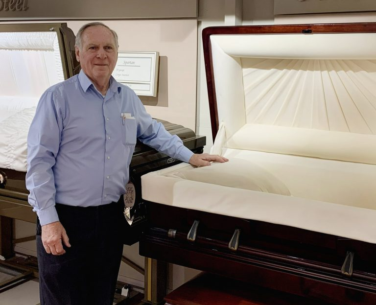 "David (Dee) Swick, owner of D.W. Swick Funeral Homes in Southern Ohio, is the January winner of the ""Say Yes to Success"" Free Casket Giveaway by Private Label."