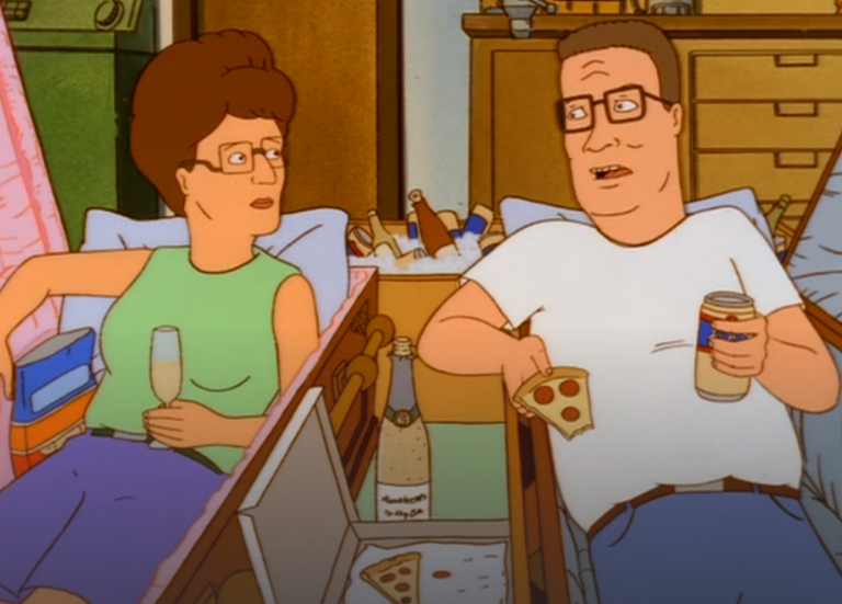 Scene from King of the Hill Death Positive Episode