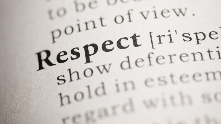 Respect definition