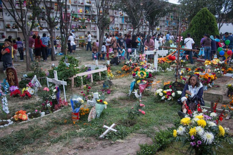 Multi-use cemetery on day of the dead