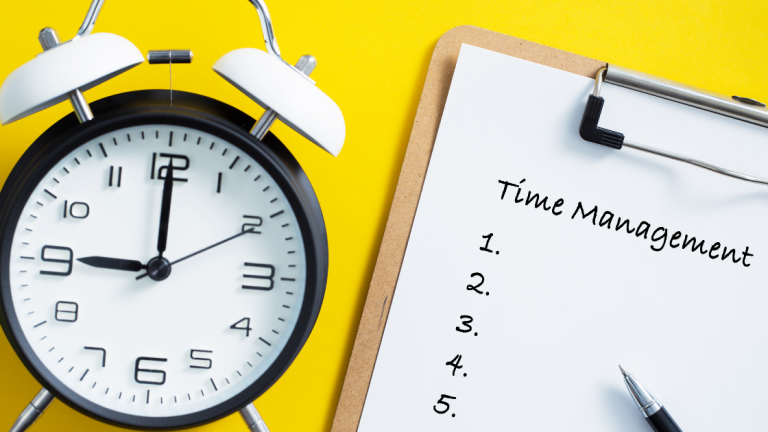 Busy time management clock and calendar